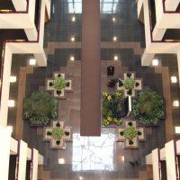 Oakbrook Terrace Corporate Center atrium from above