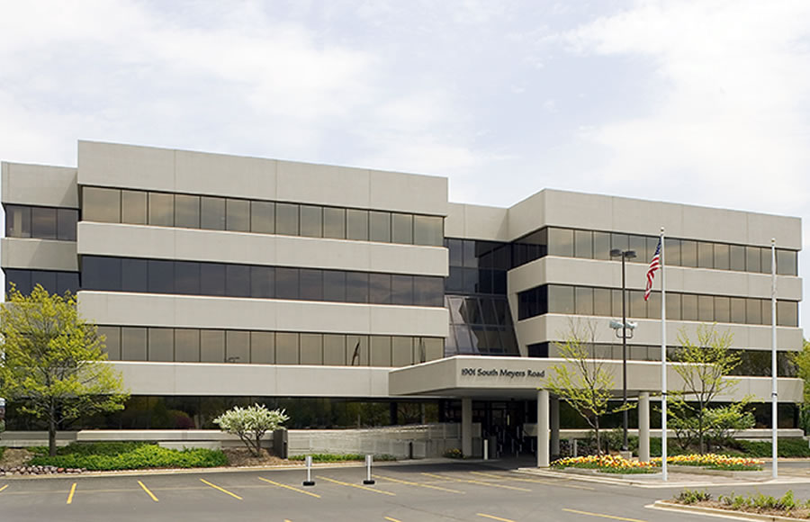 Oakbrook Terrace Corporate Center front view